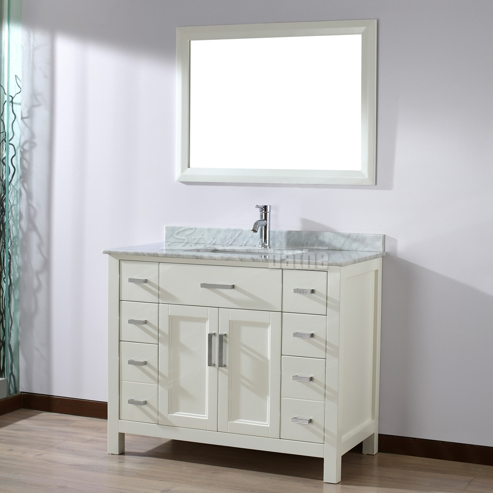 bathroom vanity and cabinets 42 white 11775