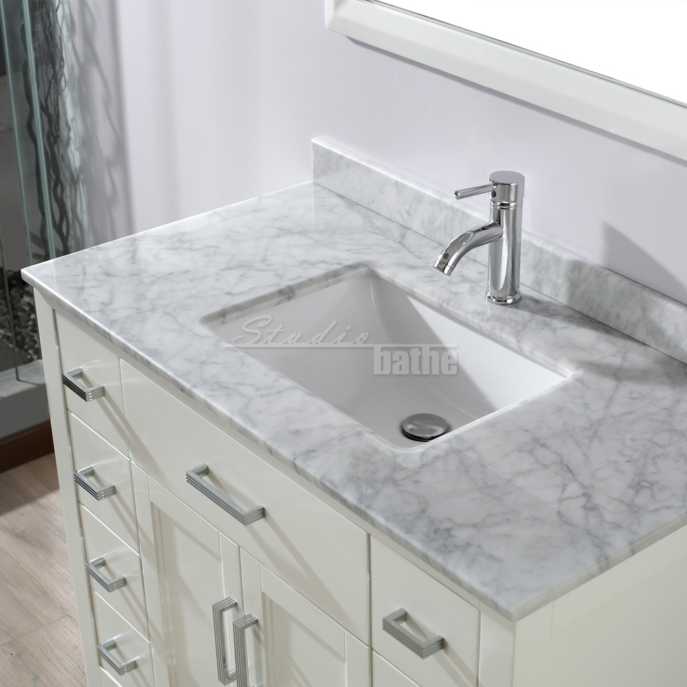 Tall bathroom vanity - Kelly 42 White
