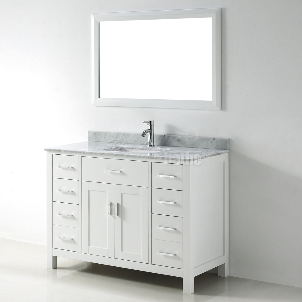 48 white bathroom vanity kalize 48 white 15321